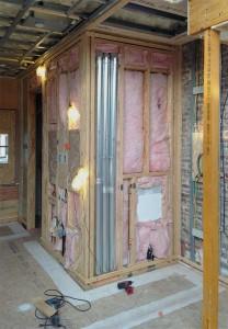 Bathroom exhaust ductwork