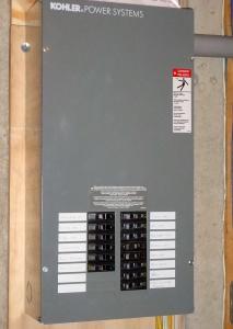 Kohler backup generator panel