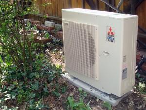 Mitsubishi heat pump unit