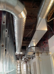 Spiral exposed ductwork