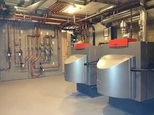 Viessmann boilers and piping