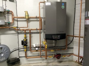 Wall mounted Lochinvar boiler